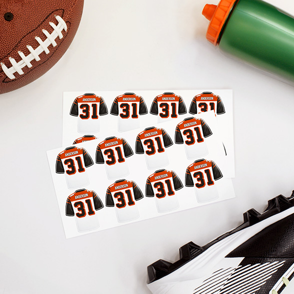Football Jersey Labels