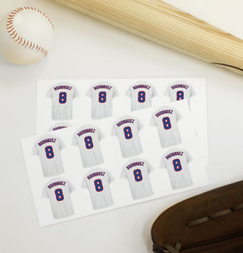 Baseball Jersey Labels