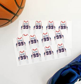 Basketball Jersey Labels