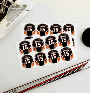 Hockey Jersey Labels