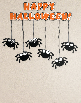 Happy Halloween Spiders