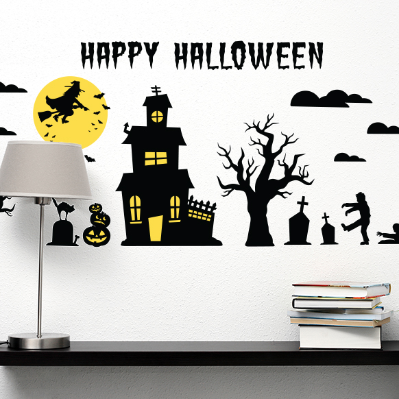 Spooky Silhouette Decals
